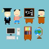 Pixel study — Stock Vector