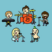 Rock band — Stock Vector