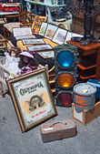Flea market. Old traffic light. — Stock Photo