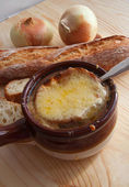 French onion soup — 图库照片