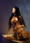 Female mannequin dressed as mermaid at Jean Paul Gaultier exhibi — Stock Photo