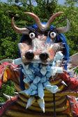 France, terrific dragoon in Les Mureaux carnival — Stock Photo