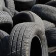 A pile of waste tires in Arthies — Foto Stock