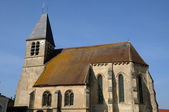 France, the old church of Longuesse — Stock Photo