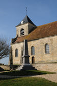 The classical church of Sagy in V al d Oise — Stock Photo