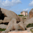 Brittany, pink granit rocks in Ploumanac h - Stock Photo