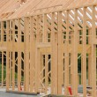 Stock Photo: Building site of a wooden house