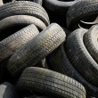 A pile of waste tires in Arthies in Ile de France — ストック写真