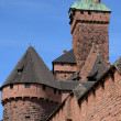 The chateau du Haut Koenigsbourg in Alsace — Stock Photo