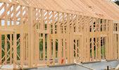 Bouwplaats van een houten huis — Stockfoto