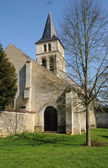 France, the gothic church of Themericourt — Stock Photo