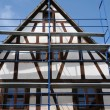 France, scaffold on a building site in Kintzheim in Alsace — Stock Photo