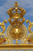 France, golden gate of Versailles palace in Les Yvelines — Stock Photo