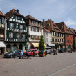 France, the market square of Obernai — Stock Photo