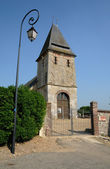 Normandie, the historical church of touffreville in l Eure — Stock Photo