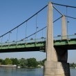 France, suspension bridge of Triel Sur Seine — 图库照片