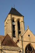 Ile de France, the historical church of Vetheuil — Stock Photo