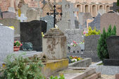 France, the cemetery of Obernai in Alsace — Stock Photo