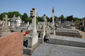France, the cemetery of Evecquemont in les Yvelines — Stock Photo