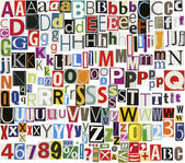 Newspaper clippings alphabet — Stock Photo