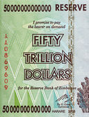 Fifty Trillion Dollars — Stock Photo