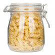 Pasta in glass jar — Stock Photo #10925505