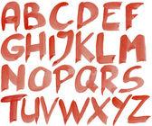 Hand painted alphabet — Stock Photo