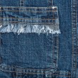 Blue jeans fabric with pocket — Stock Photo