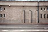 Leeftijd straat muur — Stockfoto
