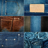 Jeans textures — Stock Photo