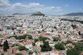 アテネのアクロポリスからリカベトスの丘を見る — ストック写真