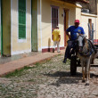 Street life, Trinidad, Cuba — Stock Photo