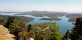 Lake plastira panorama — Stock Photo