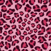 Seamless pink leopard texture pattern. — Stock Vector