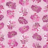 Bezešvé vzor s květinovým pozadím — Stock vektor