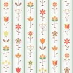 Retro Flower Seamless — Stock Vector #10912059