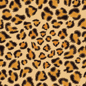 Leopard seamless pattern — Stock Vector