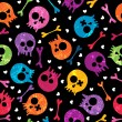 Stock Vector: Skulls seamless pattern