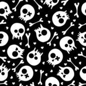 Skulls seamless pattern — Stock Vector