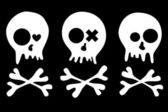 Skulls set — Stock Vector