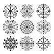 Stock Vector: Decorative vector Snowflakes set