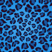 Seamless blue leopard texture pattern. — Stock Vector
