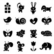 Baby icon set — Stock Vector #12007989