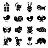 Baby icon set — Stok Vektör