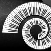 ピアノのキーとグランジ抽象的な背景 — ストックベクタ