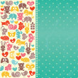 Royalty-Free Stock ベクターイメージ: Baby  blue background