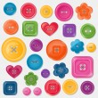 Set of colored vector buttons — Stock Vector