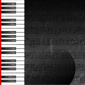 Grunge abstract background with piano keys — Stock Vector