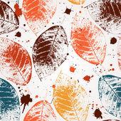 无缝的树叶壁纸 — 图库矢量图片