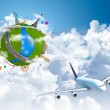 Traveling the world dream globe concept — Stock Photo